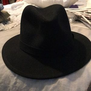Jcrew Black felt Fedora